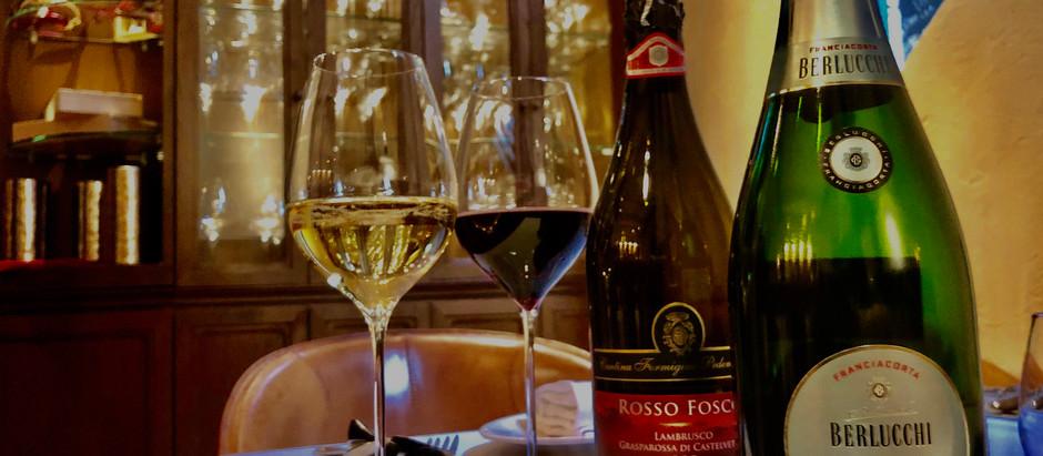 白金台のランチはワインとともに。