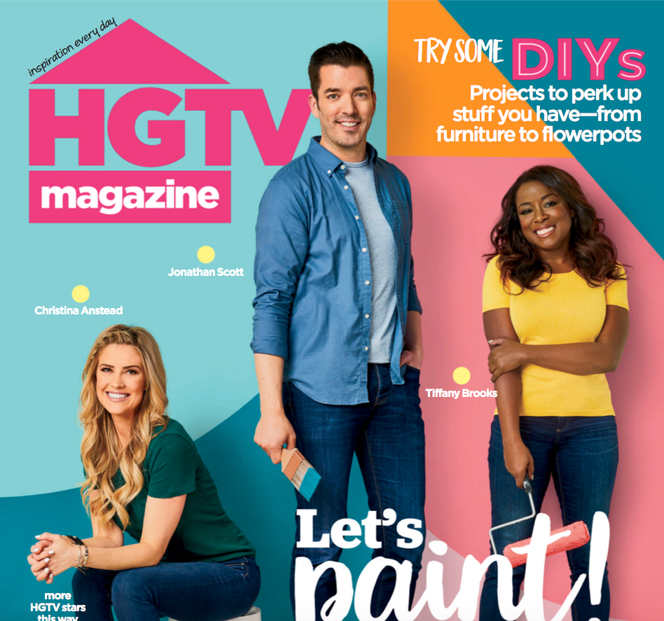 HGTV Magazine June 2020 Cover With Tiffany Brooks, Property Brothers