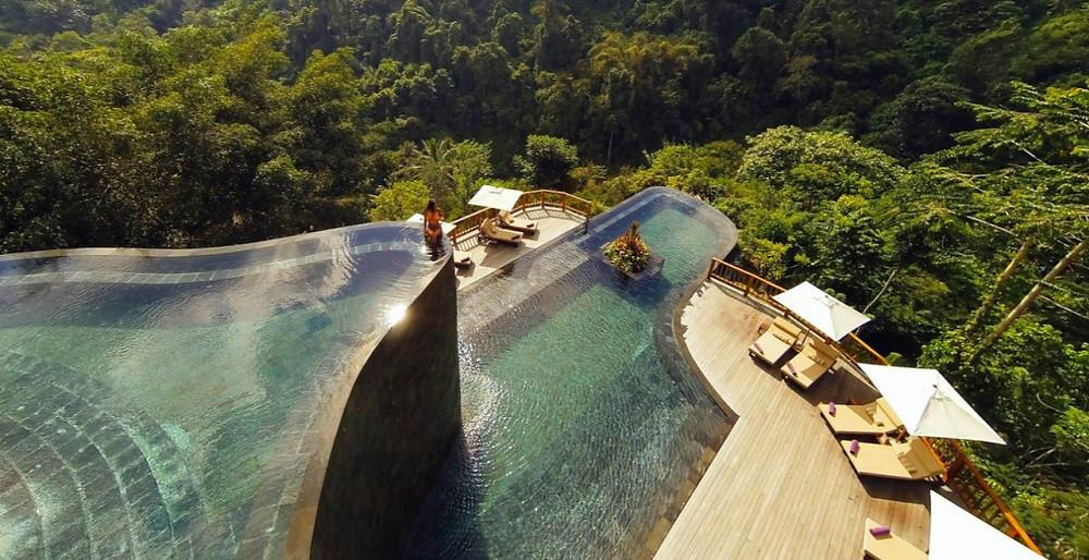 Piscine bali 2 étages Hanging Gardens of Bali
