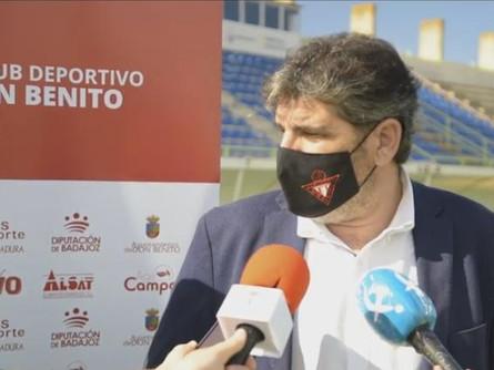 Escucha las declaraciones de Juan García tras el CD Don Benito 1 CP Villarrobledo 0