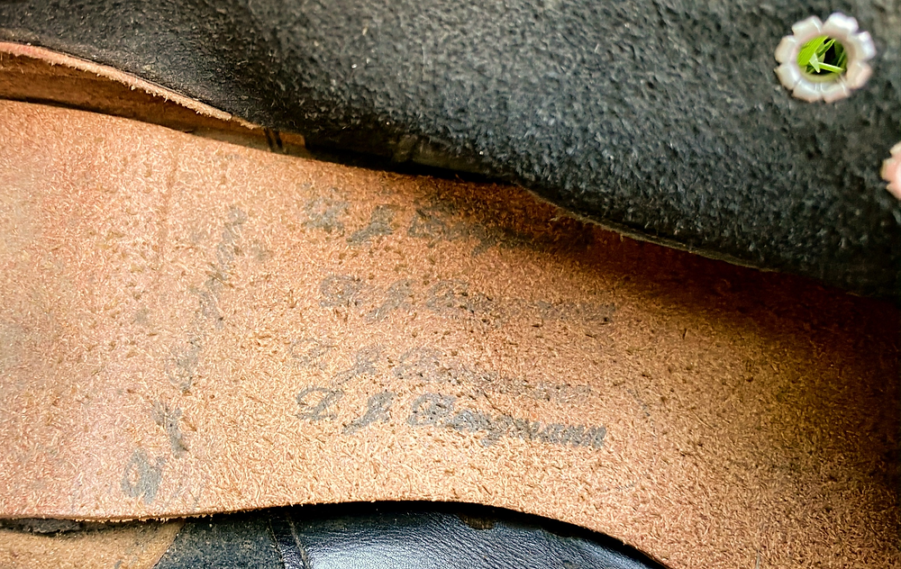 Customized cork innersole board from spikes used in 1952-53