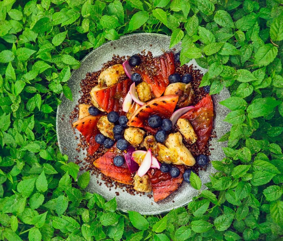 triušiena su šilauogėis ir grilintu arbūzu, triušienos troškinys, arbūzas, Alfo Ivanausko receptai
