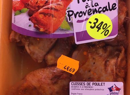 3€10 🍗CUISSES DE POULETS / provençale (👉soit 5,62€🤗/Kg)