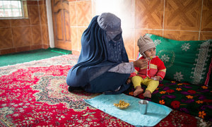 UNICEF: Mother and malnourished child in Afghanistan fight to survive.