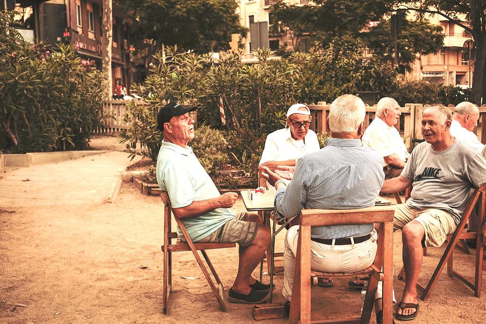 old men sitting