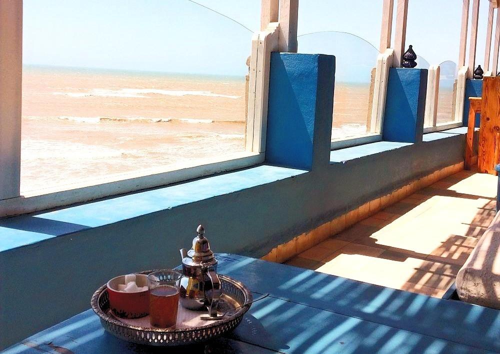 Terasa s výhledem na moře