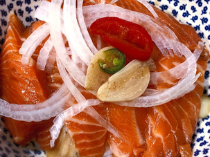 Fermented Marinated-Soy Salmon!