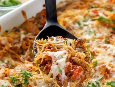 Spaghetti Squash Turkey Casserole