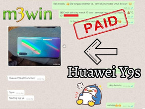 M3win Lucky Draw - Huawei Y9s