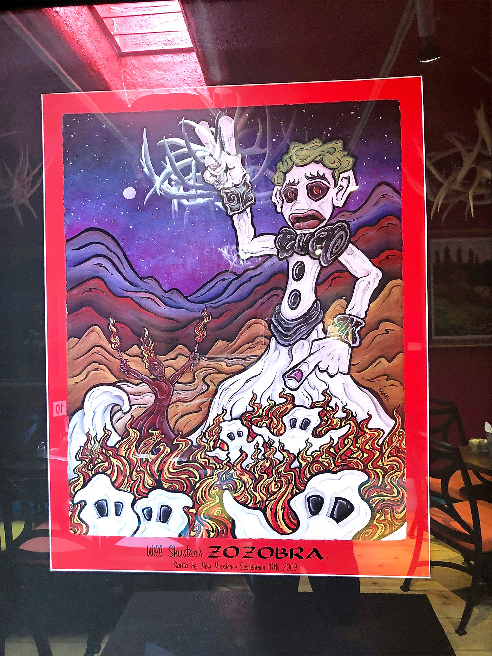 Painting of the Burning of Zozobra