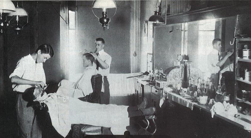 Barbería de los Años 20 del siglo pasado.