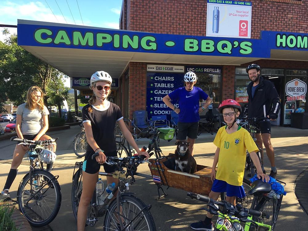 Tour du monde à vélo en famille Australie Rencontre eden