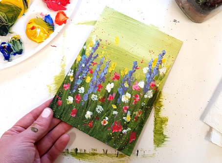 How to paint Wild Flowers by Liquid Art!