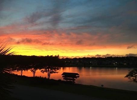 Sunset Over Whitney Lake Johns Island SC