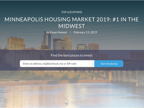 Investors Deem Minneapolis Housing Market 2019: #1 In The Midwest