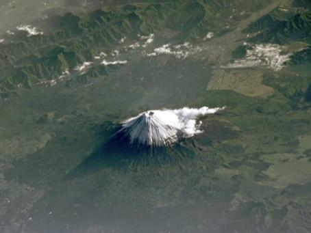 Mount Fuji-International Space Station