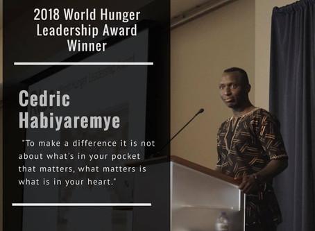 Award addresses worldwide hunger issue