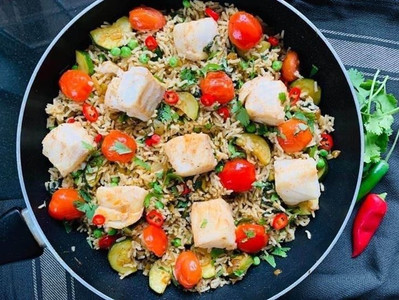 HEALTHY COD & COURGETTE BIRIYANI