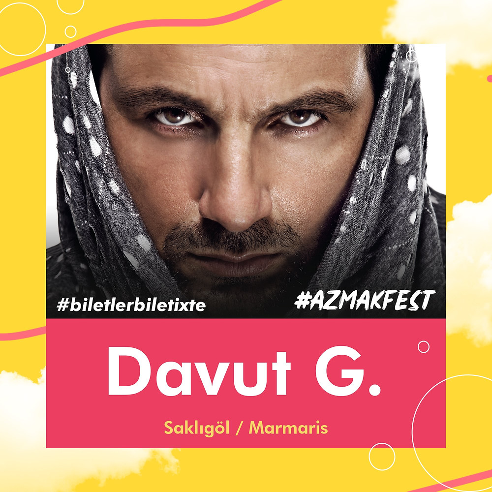 Renkli ve eğlenceli sahne performansı ile Davut Güloğlu, #AzmakFest'te