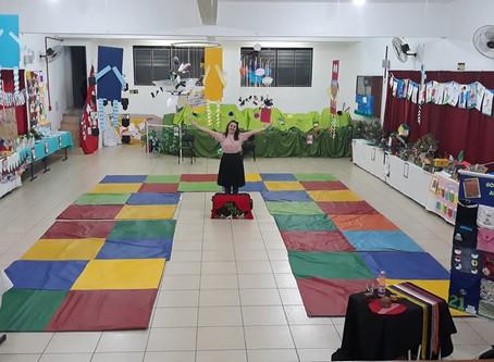 Márcia Funke Dieter na escola Imaculado Coração de Maria