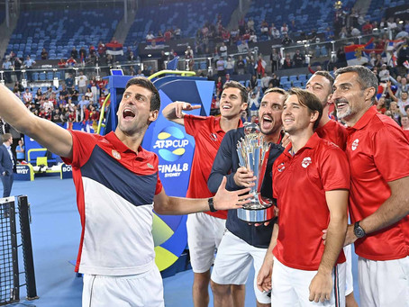 Serbia wins atp cup over spain