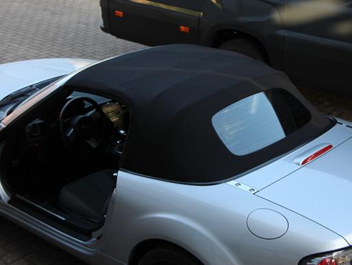 Mazda MX5 neues Cabrioverdeck, Ledersitze, Schaltsack und passendem Sitzkeil.