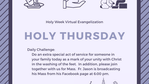 "Holy Thursday Virtual Quarantine Challenge: ""Servanthood"""