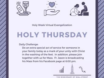 "Holy Thursday Virtual Quarantine Challenge: ""Servanthood"""