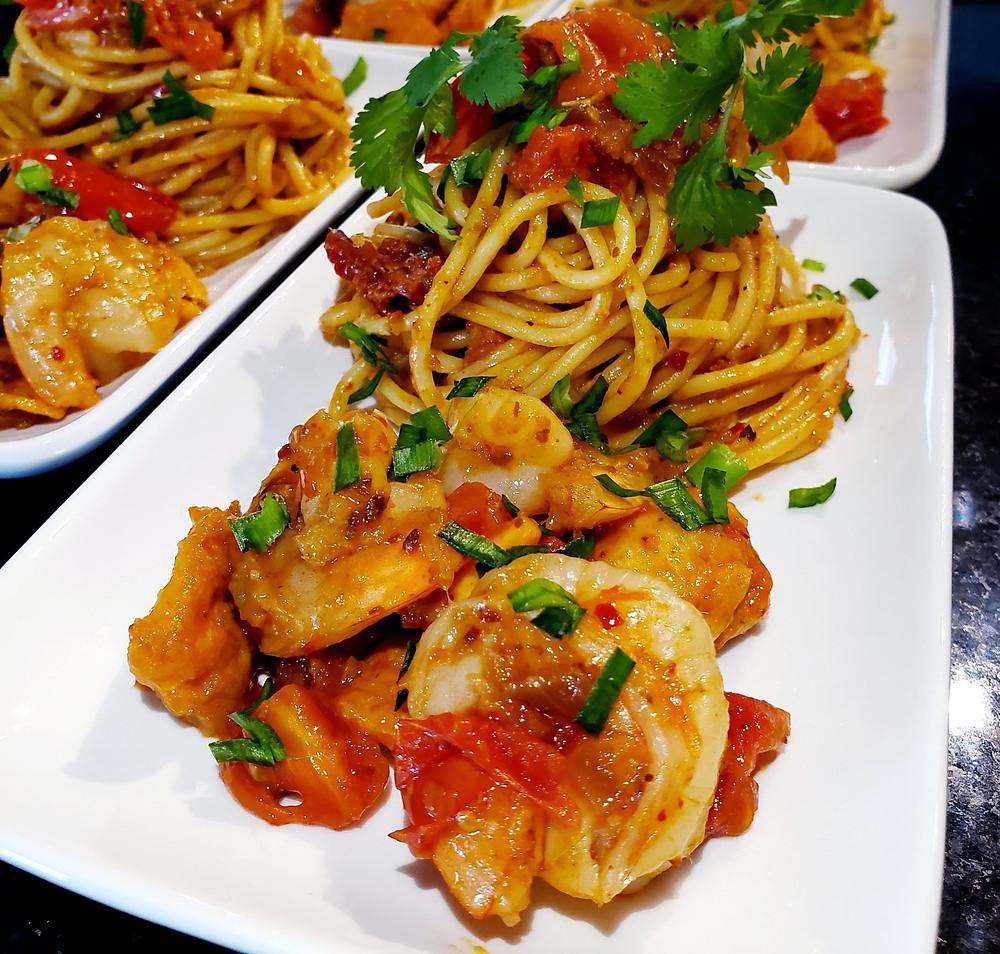 Spaghetti with Vietnamese flavors!