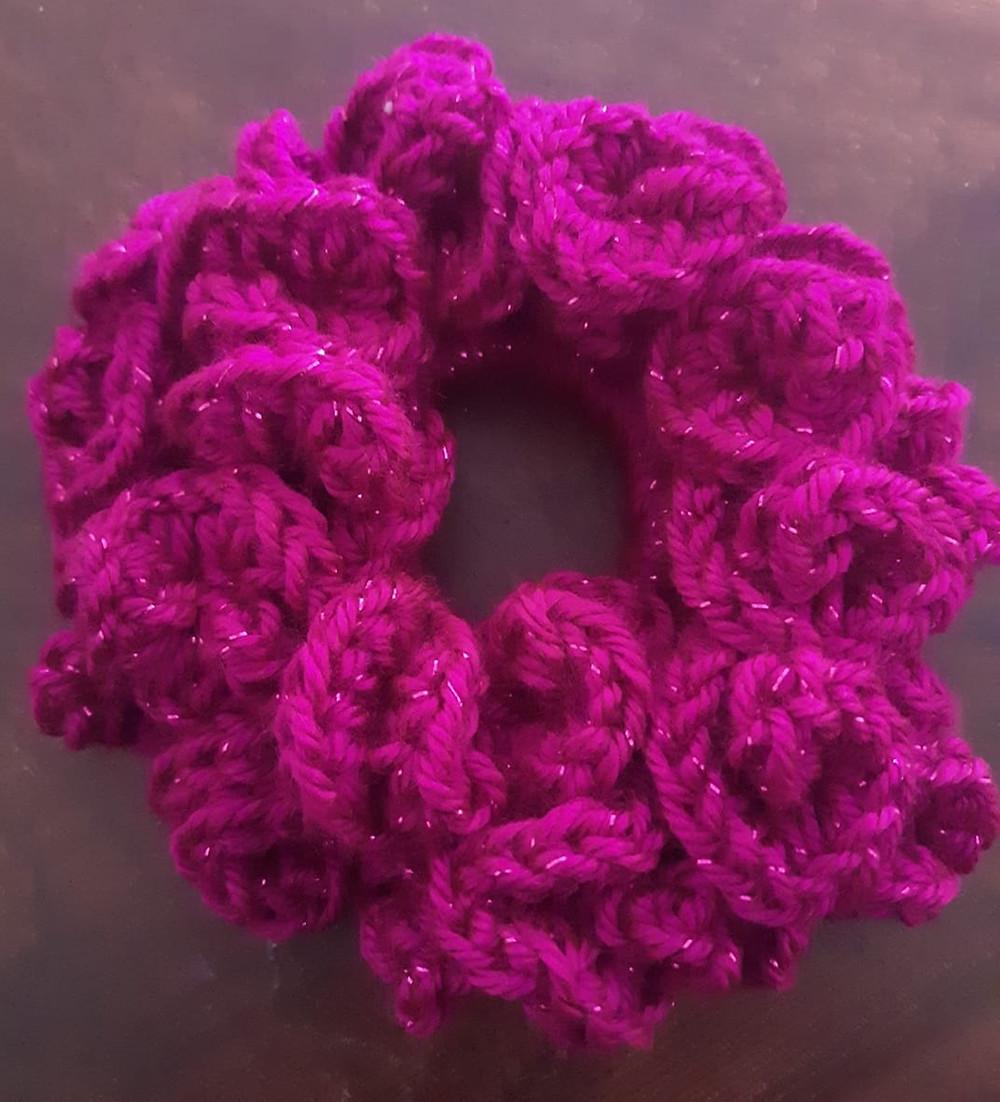 rose scrunchie pattern