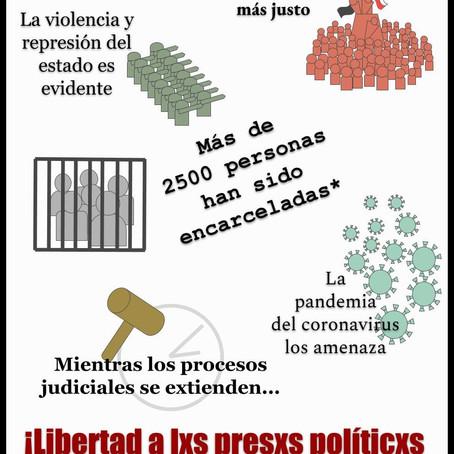 ¡Libertad a las y los Presos Políticos de la Revolución Social del 18 de Octubre!