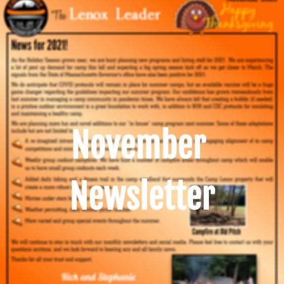 November Newsletter & The GOLDEN TICKET!
