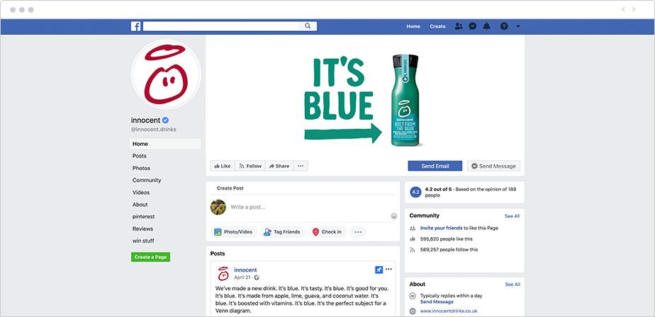 Sua marca nas redes sociais: exemplo de branding visual