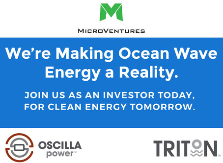OSCILLA POWER ANNOUNCES LAUNCH OF MICROVENTURES INVESTMENT OPPORTUNITY