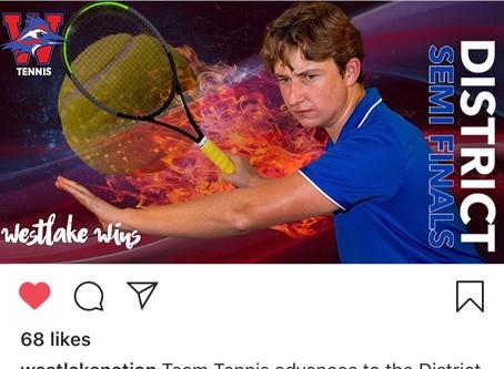 Chap Tennis Advances to District Finals Friday