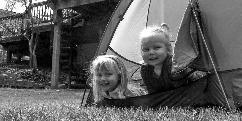 Not a lot cuter than a backyard camp-out.