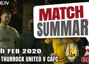 Match summary - East Thurrock Utd