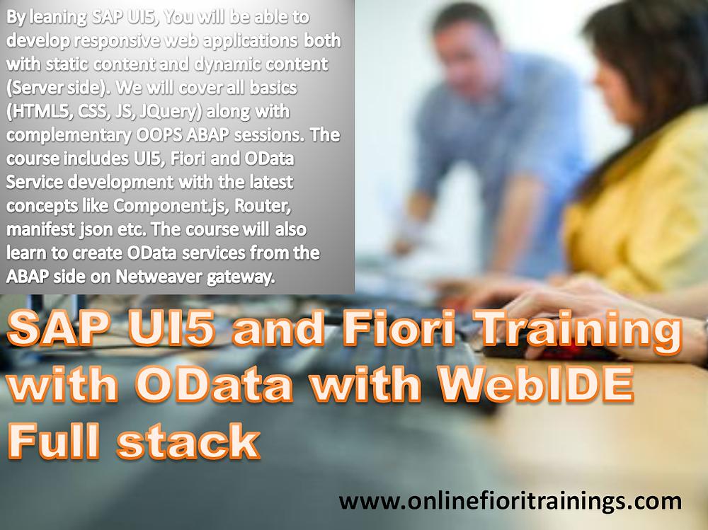 SAP UI5 online training