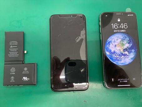 iPhoneX フロントパネル・バッテリー交換修理