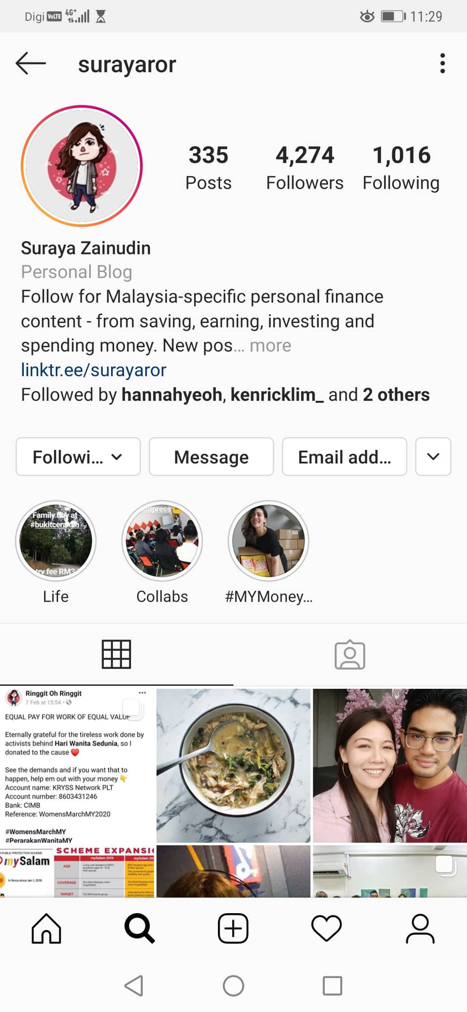 Follow Suraya on her Instagram, learn about books and finance