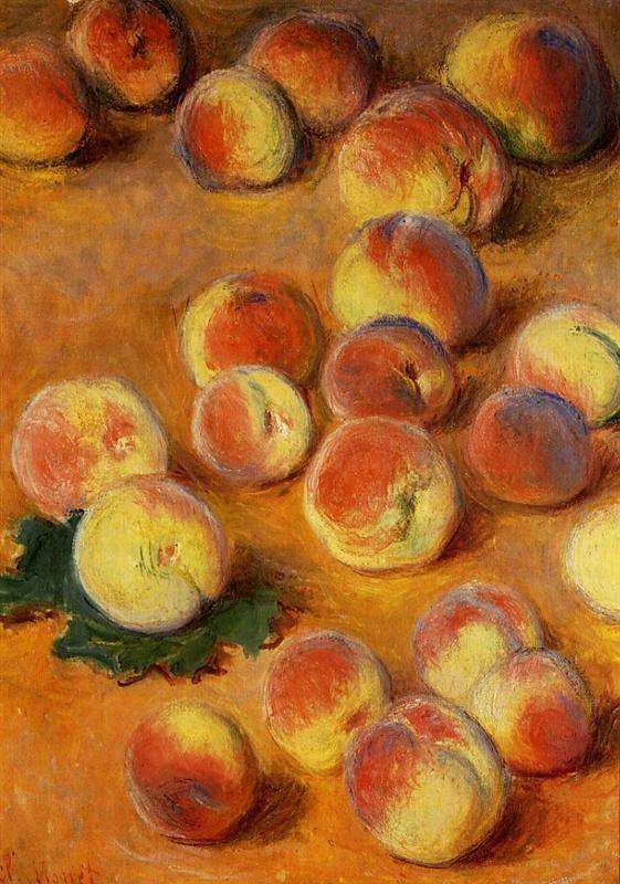 Monet - Peaches, 1883 [AKA The Invasion of the Perilous Peaches]
