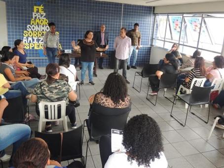 Diretores realizam reunião com agentes da Cidade Tiradentes