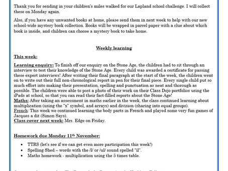 Year 3 Weekly Letter 27/11/20