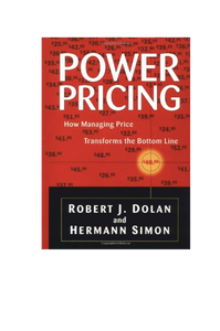 Power Pricing Robert J Dolan & Hermann Simon