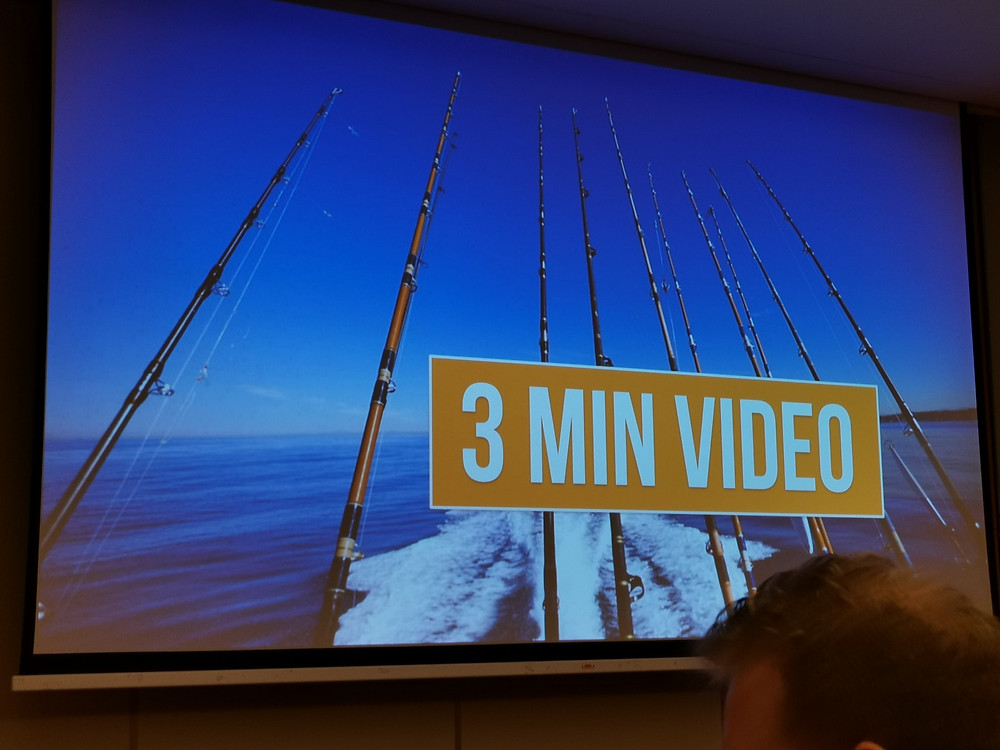 Shoot your 3 minute video