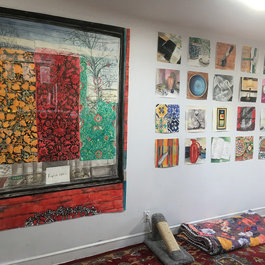 """Meridith McNeal, """"Where do you CREATE?"""" A: My studio is in my house"""