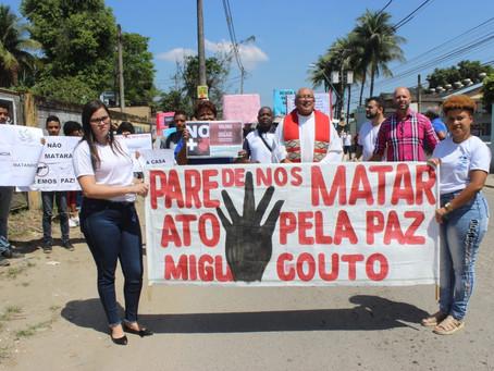 Ato em favor da vida é realizado em Miguel Couto no Rio de Janeiro