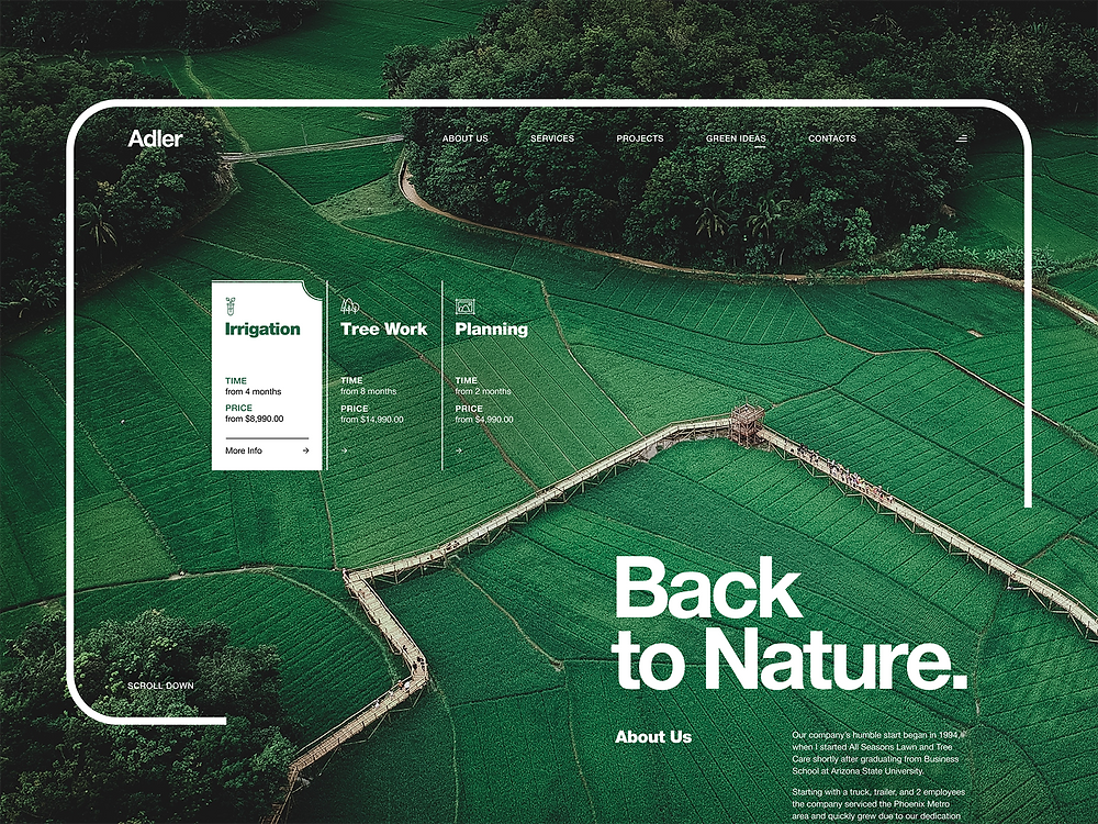 Agricultural Development Company 'Back to Nature'