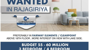 WANTED - Apartment at Clearpoint and Fairway 3 Bed 55 Million - 60 Million  