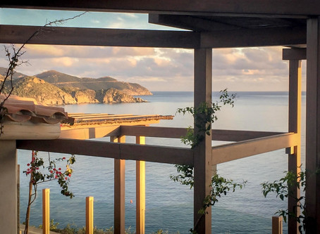 It was fun designing an outdoors daybed as part of the extensive seafront terrace canopies structure